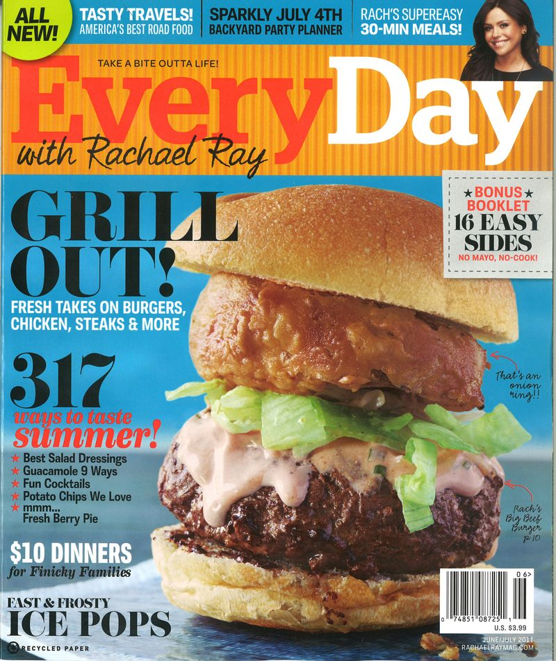 Everyday with Rachael Ray June July 2011 Cover