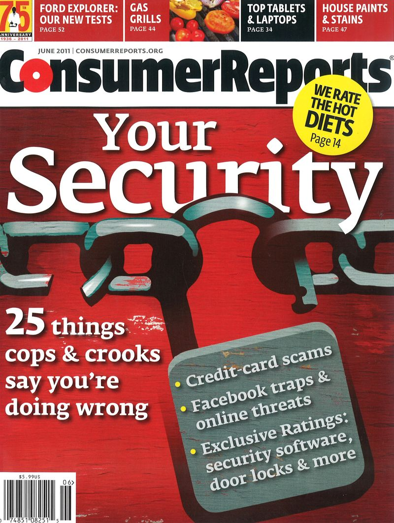 ConsumerReport June 2011 Cover
