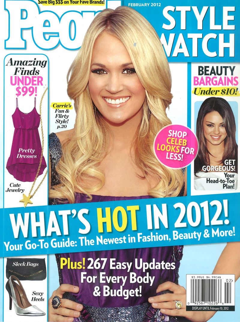 People Style Watch February 2012 Cover